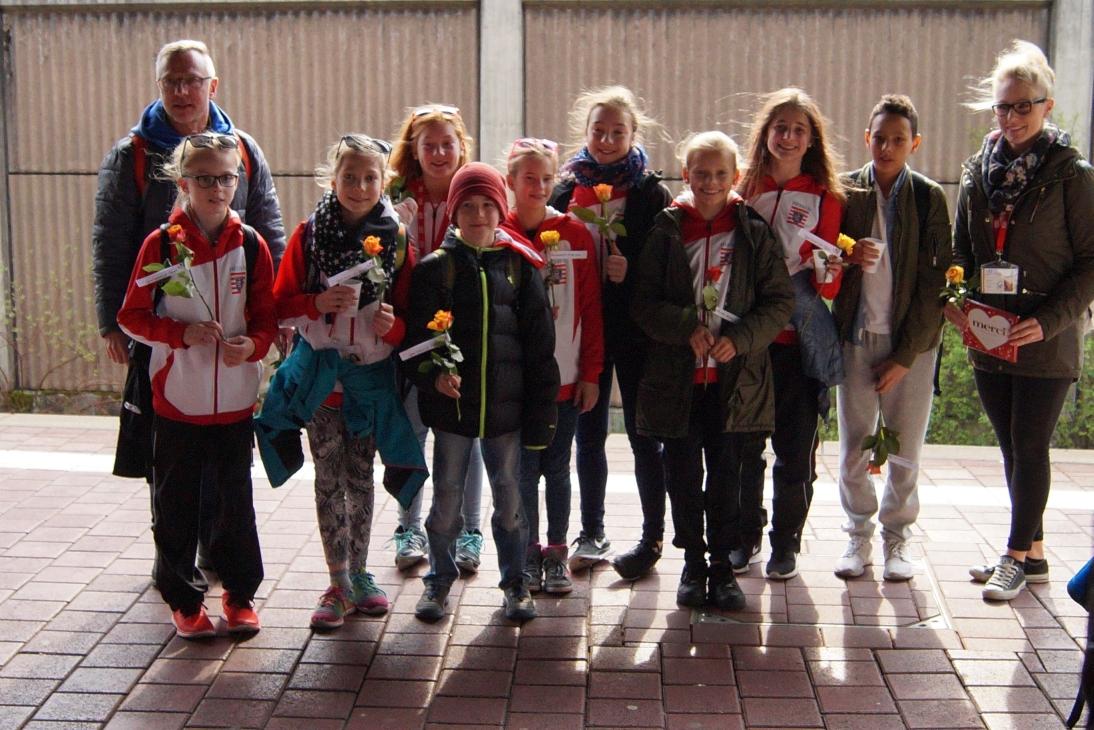 Empfang des Siegerteams am Bahnhof Kassel